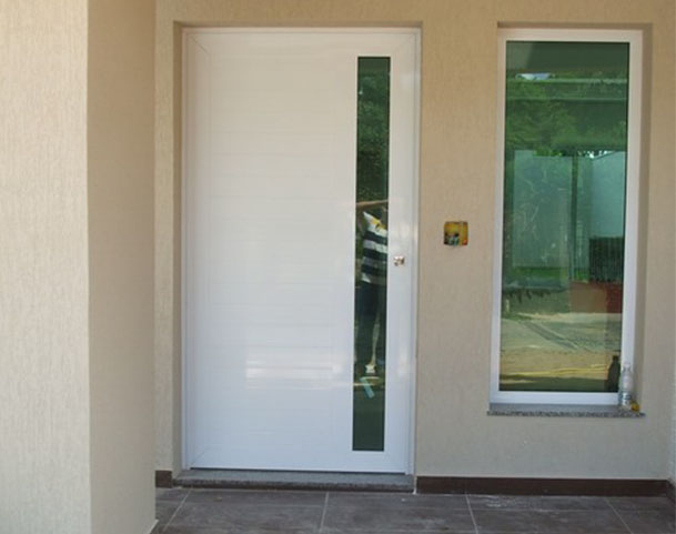 Portas Lambril Duplo com Vidro e Puxador